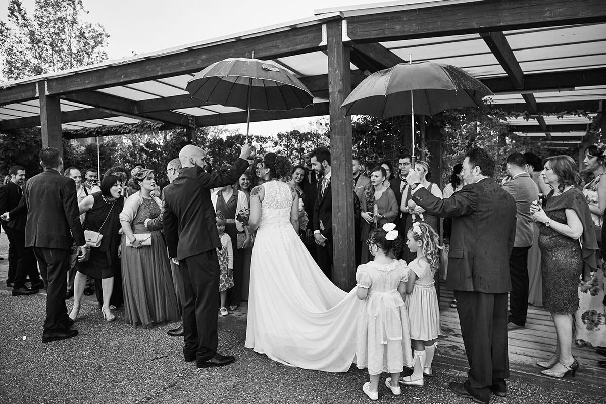 boda lluviosa en Zaragoza