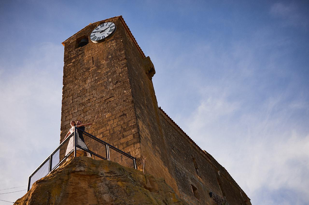 boda torre del reloj luna
