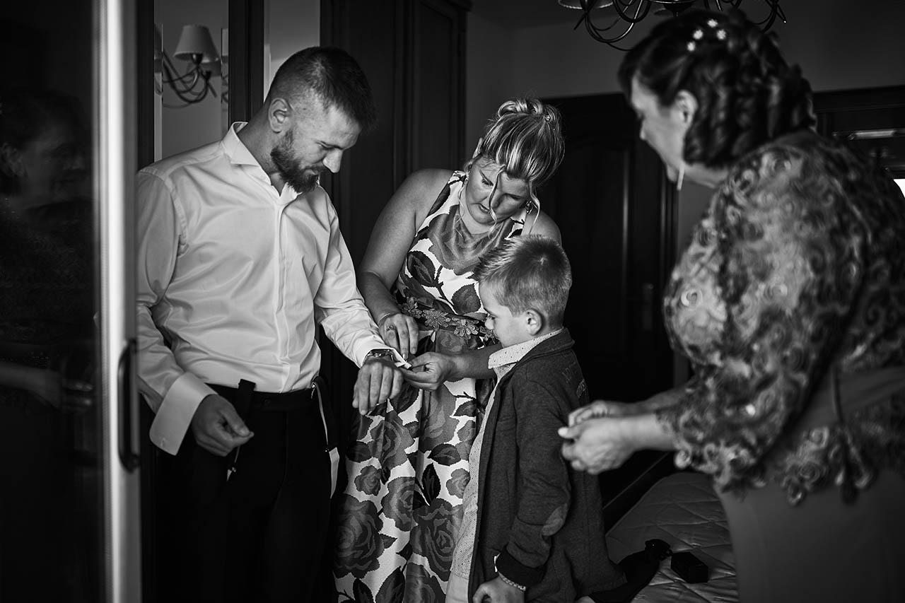 preparativos del novio boda
