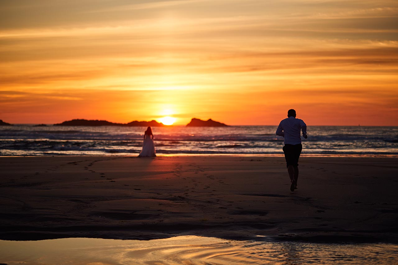 puesta de sol postboda