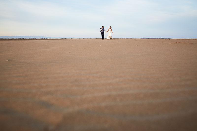 postboda bonita en la playa