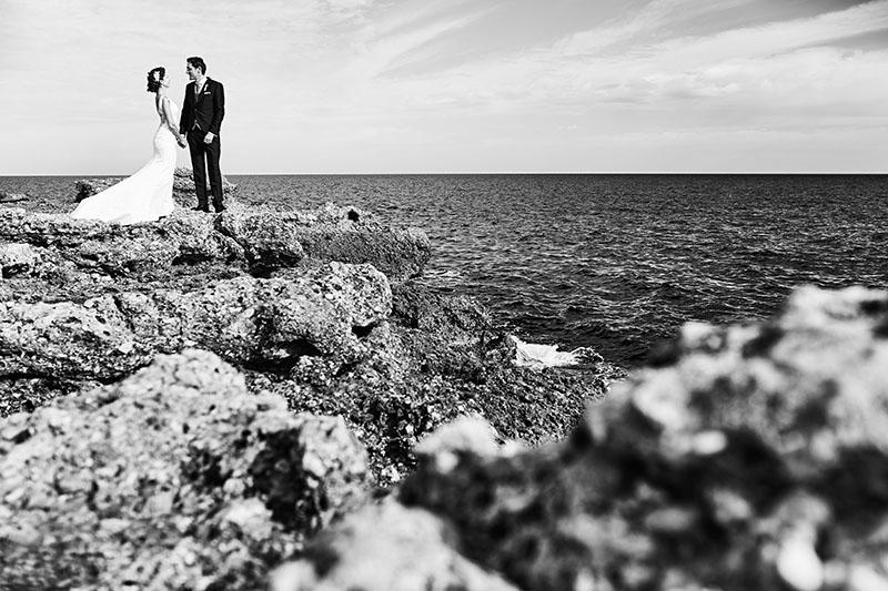 postboda en el mar mediterraneo